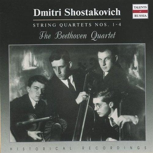 Shostakovich: String Quartets Nos. 1-4 by The Beethoven Quartet