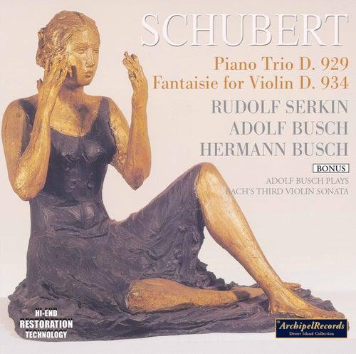 Schubert & J.S. Bach: Chamber Works von Rudolf Serkin