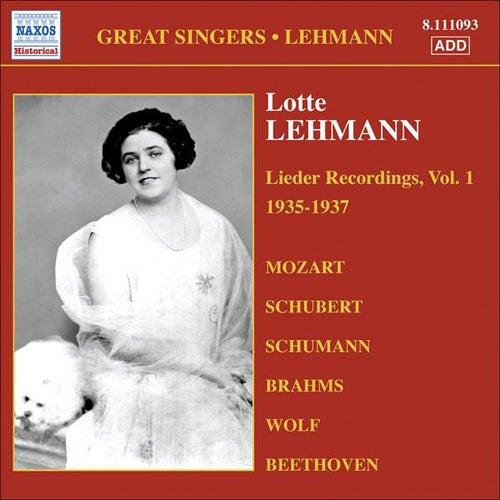 Lehmann, Lotte: Lieder Recordings, Vol. 1 (1935-1937) von Lotte Lehmann