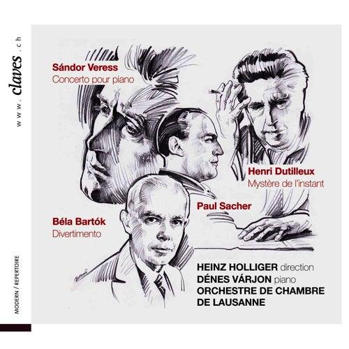 Sándor Veress - Concerto pour piano / Henri Dutilleux - Mystère de l'instant / Béla Bartók - Divertimento by Heinz, Holliger