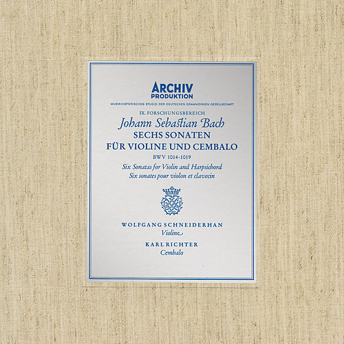 Bach, J.S.: Sonatas for Violin and Harpsichord BWV 1014-1019 von Karl Richter