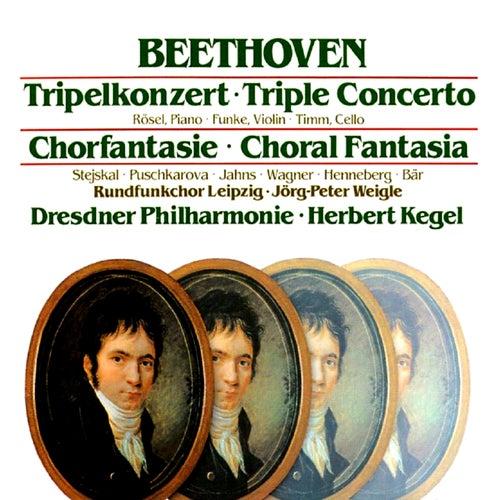 Beethoven: Tripel Concerto / Choral Fantasia de Herbert Kegel