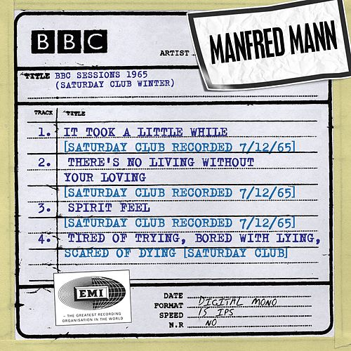 BBC Sessions (Saturday Club Recorded Winter 1965) by Manfred Mann