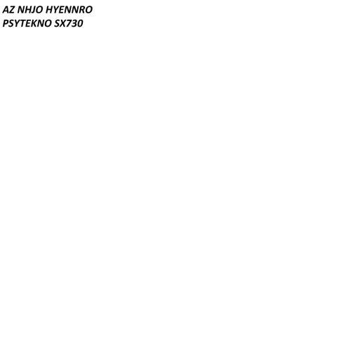 PSYTEKNO SX730 von Az Nhjo Hyennro
