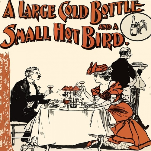 A Large Gold Bottle and a small Hot Bird by Richard Anthony