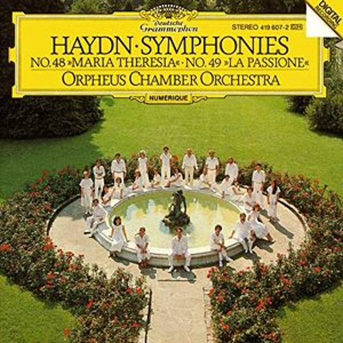 Haydn: Symphonies Nos. 48 'Maria Theresia' & 49 'La Passione' de Orpheus Chamber Orchestra