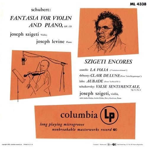 Joseph Szigeti Plays Schubert, Corelli, Debussy, Lalo, Tchaikovsky & Bach by Joseph Szigeti