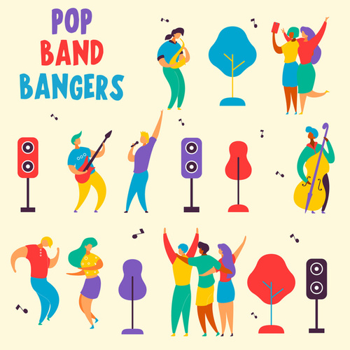 Pop Band Bangers fra Various Artists