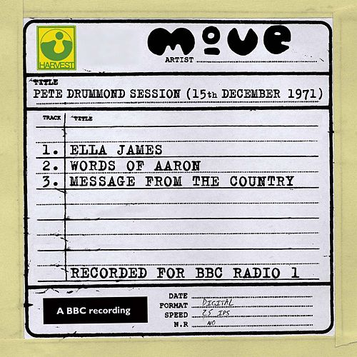 Pete Drummond Session (15th December 1971) de The Move