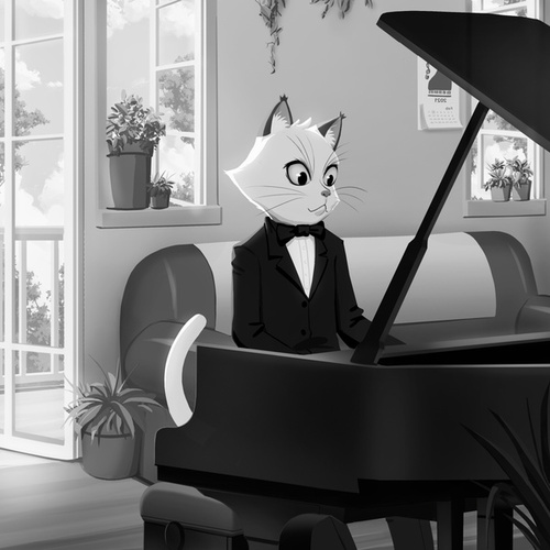 Peaches by Piano Cat