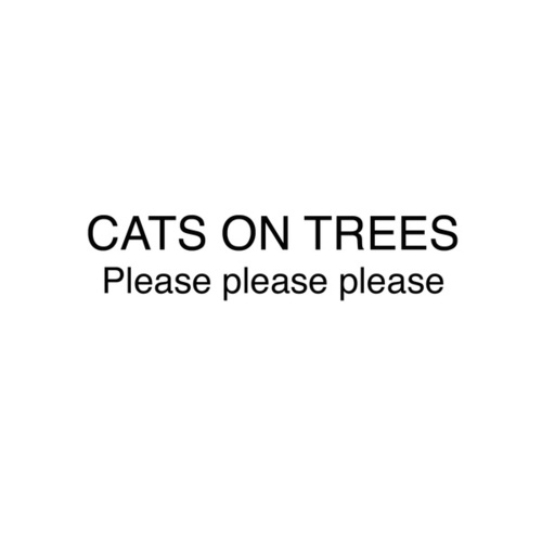 Please Please Please by Cats on Trees
