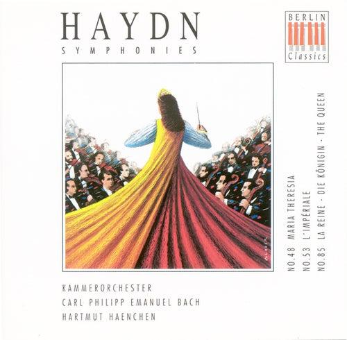 HAYDN, J.: Symphonies Nos. 48, 53, 85 (C.P.E. Bach Chamber Orchestra, Haenchen) by Carl Philipp Emanuel Bach