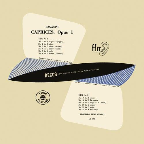 Paganini: Caprices for Solo Violin (1950 Mono Recording) (Ruggiero Ricci: Complete Decca Recordings, Vol. 10) von Ruggiero Ricci