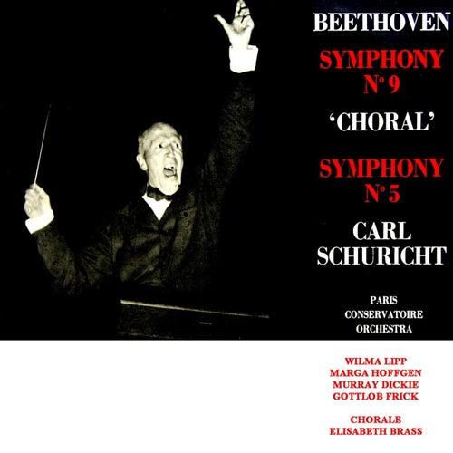 Beethoven: Symphonies Nos. 9 & 5 de Paris Conservatoire Orchestra