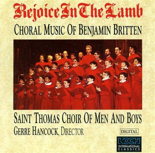 Rejoice In The Lamb de Benjamin Britten