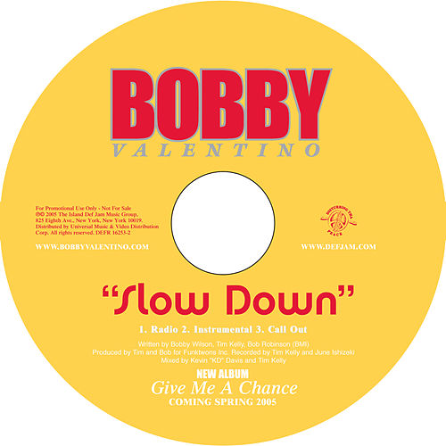 Slow Down by Bobby V.