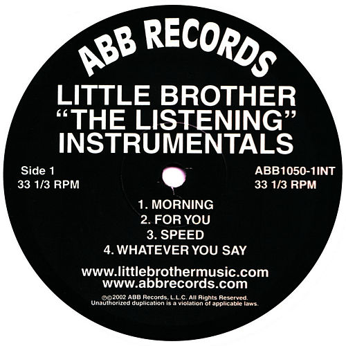 The Listening Instrumentals de Little Brother