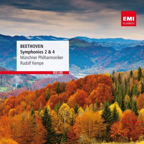 Beethoven: Symphonies Nos 2&4 von Rudolf Kempe