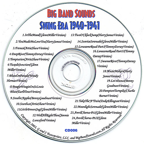 SWING ERA 1940-1941 CD006 von Various Artists