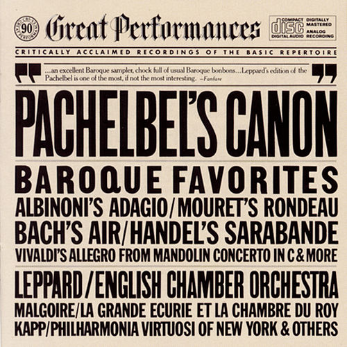 Great Baroque Favorites by English Chamber Orchestra, Philharmonia Virtuosi of New York
