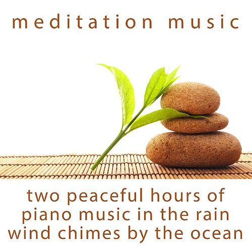Two Peaceful Hours of Piano Music in the Rain and Wind Chimes by the Ocean by Meditation Music