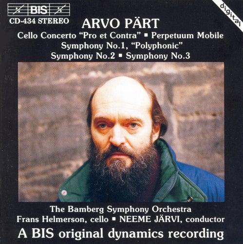 Cello Concerto/Perpetuum Mobile / Symphonies No. 1, No. 2 And No. 3 by Arvo Pärt