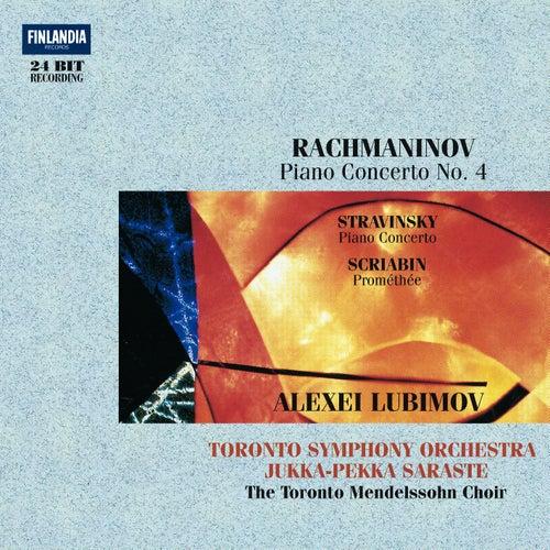 Rachmaninov : Piano Concerto No.4 - Stravinsky : Concerto for Piano and Wind Instruments - Scriabin : Prométhée by Alexei Lubimov