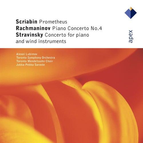 Rachmaninov : Piano Concerto No.4 - Stravinsky : Concerto for Piano and Wind Instruments - Scriabin : Prométhée [Apex] by Alexei Lubimov