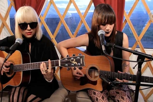 Stripped Down in a Yurt: Dum Dum Girls,