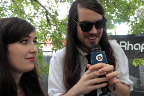 Cults Talk Noise Canceling Headphones, Hiding In Closets at Lollapalooza (Video Interview)