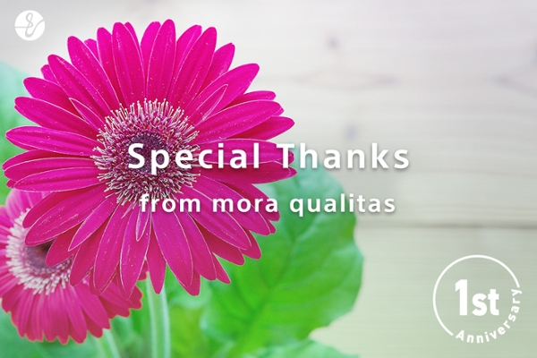 Special Thanks from mora qualitas